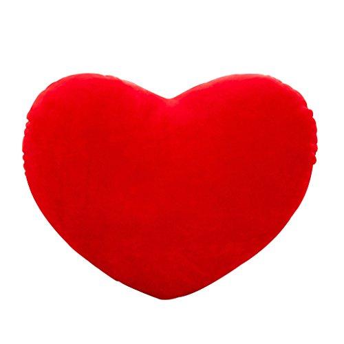 Haorw Herzkissen Plüschkissen Herzform für Geburtstag/Valentinstag, 30cm (rot)