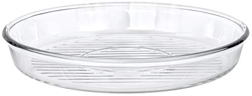 Red Co. Round Clear Glass Casserole Baking Dish Microwave Safe for Cake, Fish, Chicken, Potatoes - 12.5'
