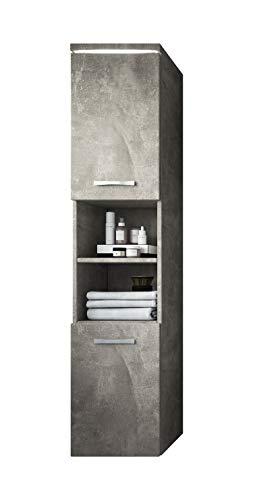 Badplaats B.V. Badezimmer Schrank Paso 160 cm Beton (Grau) – Regal Schrank Hochschrank Schrank Möbel