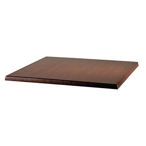 Werzalit Plus U596 carré Dessus de table, 700 mm x 700 mm x 30 mm Dimension, Italien en noyer