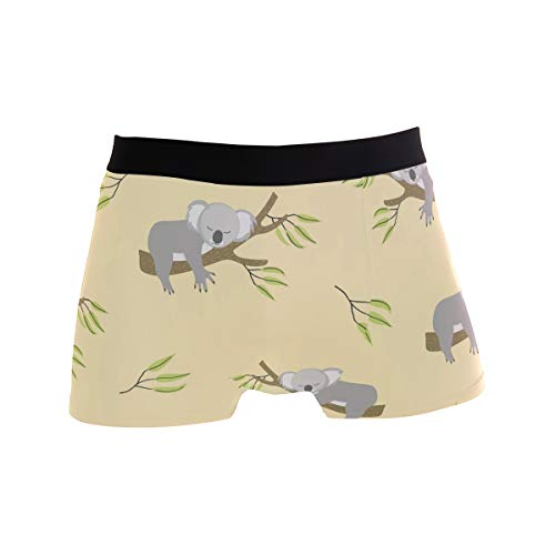 TropicalLife LZXO Herren Boxershorts Funny Koala Unterwäsche Trunks Sanft Strecken Atmungsaktive Boxershorts (Größe: XL)