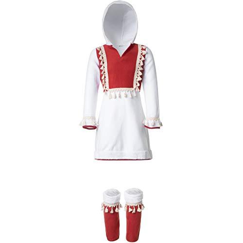 dressforfun 900516 - Mädchenkostüm Eskimomädchen, Traditionelles Gewand in Form eines Kurzkleids inkl. Stulpen (140 | Nr. 302580)