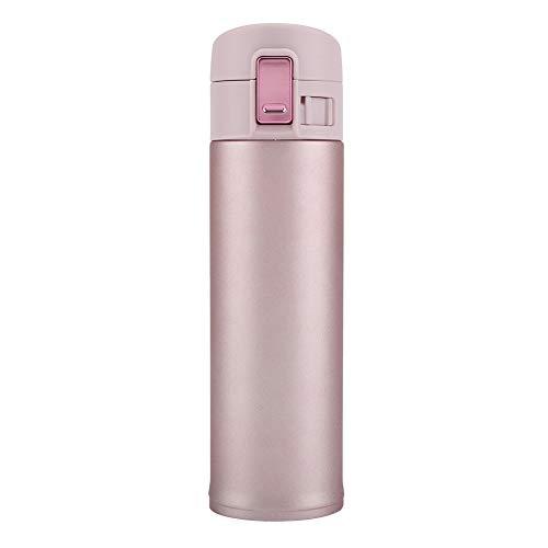 Rossebear - Botella de agua termo de acero inoxidable con aislamiento hermético, 450 ml
