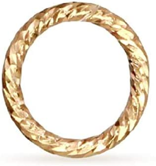 Closed Jump Ring Sparkle 14Kt Gold Great interest Filled Cheap bargain - 1052 5mm 21ga 10pcs