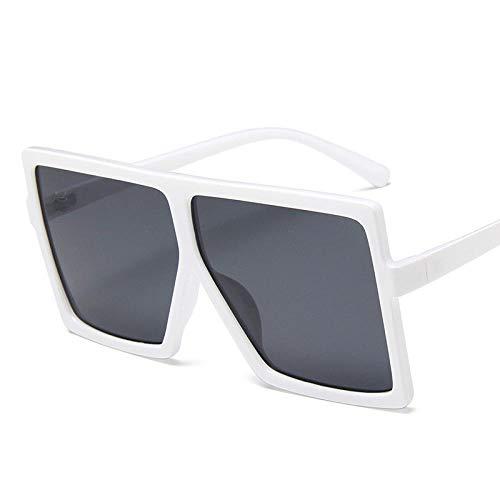 Gafas De Sol Polarizadas Gafas De Sol Cuadradas Negras De Gran Tamaño para Mujer, Montura Grande, Gafas De Sol Coloridas para Hombre, Espejo, Gafas Gradiente Unisex, Hip Hop