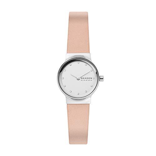 Skagen Damen Analog Quarz Uhr mit Leder Armband SKW2770