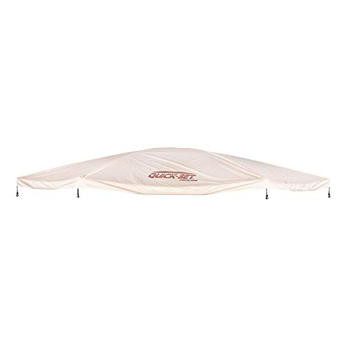 CLAM Quick-Set Outdoor Gazebo Screen Tent Canopy Accessory Rain Fly Roof Tarp for Pavilion/Pavilion Camper Models, Tan (Tent Not Included)