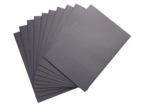 クラフト 片側ポケット 個別フォルダー【 A4 ブラック 10枚セット 】持ち運び ファイル 書類入れ オフィス用品 おしゃれ