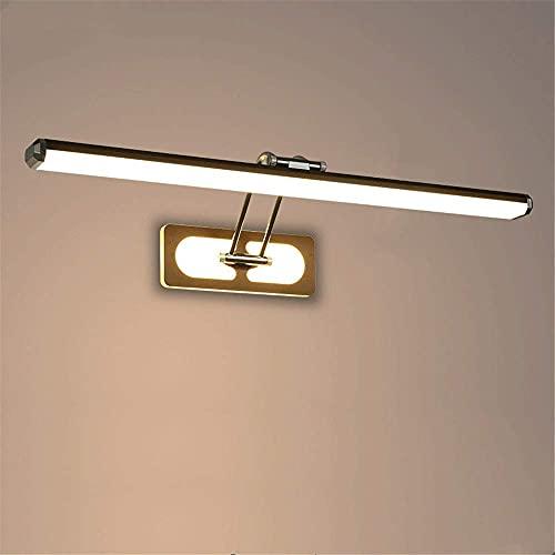 KMMK Novità Lampade per decorazione da parete, Luce frontale per specchio a led Lampada per specchio da bagno moderna IP44 Lampada da parete impermeabile anti-appannamento 16W Regolabile a 180 ° (Bia