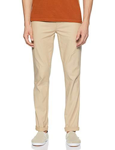 John Players Men's Chino Casual Trousers (JCMWTRS190045003_Beige_30W x 34L)