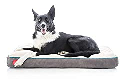 Brindle Shredded Memory Foam Dog Bed with Removable Washable Cover-Plush Orthopedic