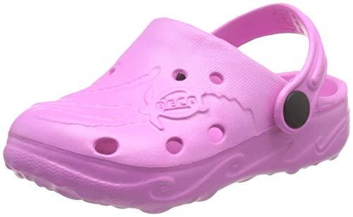 BECO Kinderclogs / Badeschuhe Schildi pink 34