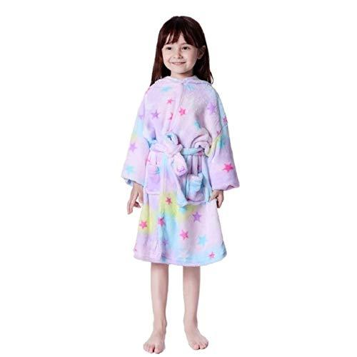 Kapuzenkinder Bademäntel Baby Regenbogen Bademantel Tier Für Jungen Mädchen Pyjamas Nachthemd Kinder Nachtwäsche 3-11Y-a14-6