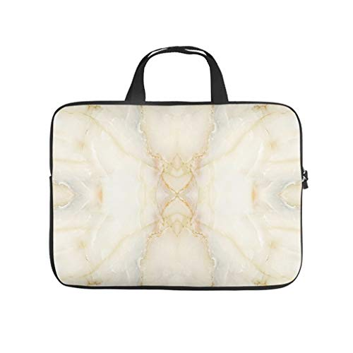 Large Marble Texture Laptop Sleeve Case Protective Bag Briefcases -Modern Style for Computer Notebook white3 10 Zoll