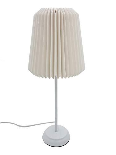 Hellum Papier-Tisch-Lampe, wahlweise Stern oder Lampen-Aufsatz, 25,5 cm Ø, weiß, Schalter, Kabel weiß, Metall-Fuß weiß Indoor, Dekoration, 578430ration, Hellum-Art.-Nr. 578430