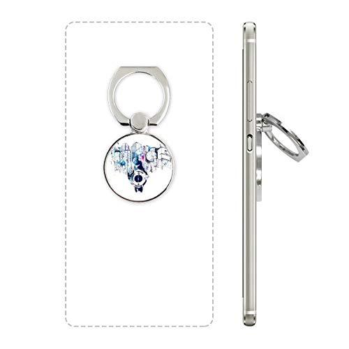 DIYthinker City Modern Bouwen Klok Waterkleur Telefoon Ring Stand Houder Beugel Universele Smartphones Ondersteuning Gift
