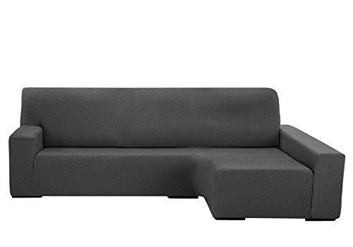 Martina Home Protection canapé avec Chaise Longue élastique Beirut, Gris, Bras Droit de 240 à 280 cm