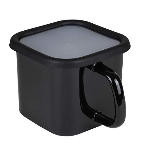 【BLKP】 パール金属 クック ポット 片手鍋にもなる保存容器 限定 ブラック 12cm ホーロー 角型 IH対応 BLKP 黒 AZ-5066