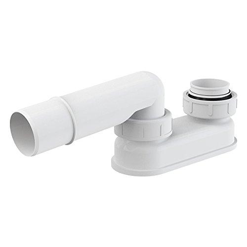 Geruchsverschluss für Ab Überlaufgarnitur DN 40 Badewanne Siphon Sifon Syfon Extra Flach Flachsiphon