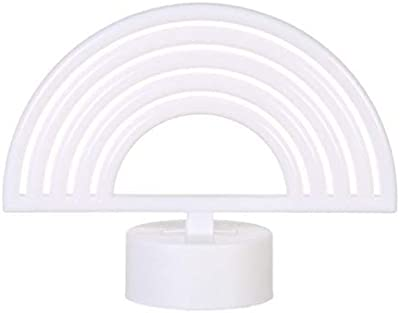Mobestech 1 x Regenbogen-Lichtschild Cartoon batteriebetriebene Neon-Licht dekorative Kinderzimmer-Nachttischlampe für Babyzimmer (rechteckiger Sockel)