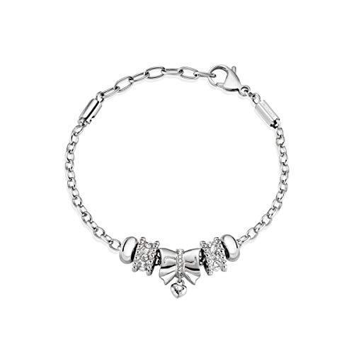 Morellato Bracciale da donna, Collezione DROPS, in acciaio, cristalli - SCZ928