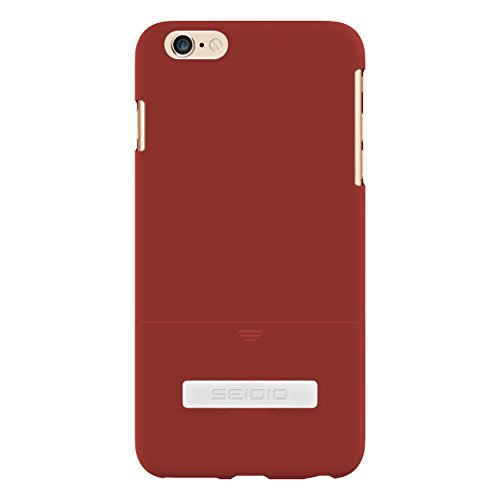 Seidio Surface Case with Metal Kickstand for iPhone 6 Plus - Retail Packaging - Garnet Red