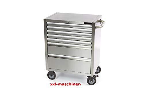 Nr. 6582 Werkstattwagen Werkzeugwagen 5 Schubladen + Werkzeugschrank Edelstahl