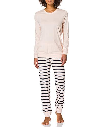 Schiesser Damen Anzug Lang 161098 Pyjamaset, zartrosa, 48