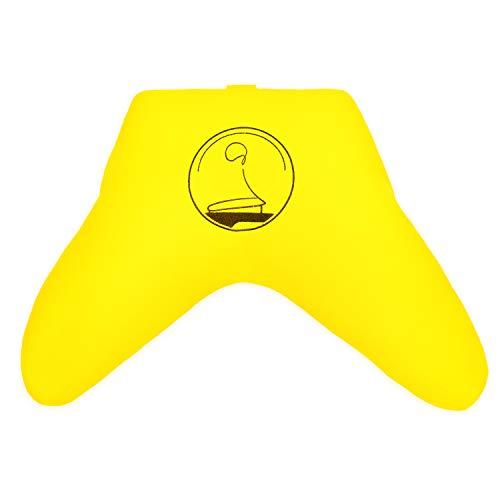 KlarGeist La forma más cómoda de meditar comodidad – Cojín de meditación, cojín de yoga y zafu (amarillo brillante).