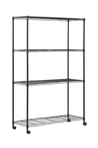 Sandusky MWS481872 4-Tier Mobile Wire Shelving Unit with 2