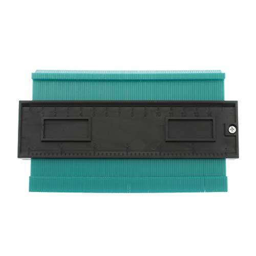 Bonarty Herramienta Duplicadora de Calibre de Contorno de 6 Pulgadas - Calibradores de Perfil de Copia de Plástico, Regla de Medida Irregular para Enrollar Tu - verde