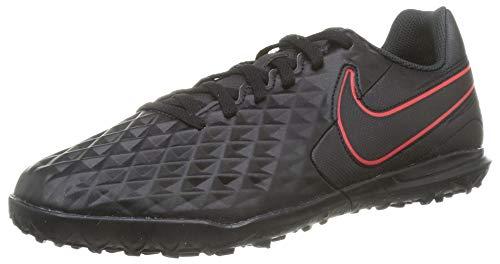 Nike Jr. Legend 8 Club TF, Football Shoe Unisex-Child, Black/Dark Smoke Grey-Chile Red, 28.5 EU