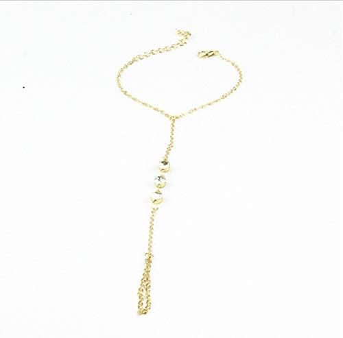 Armband Multi Armreif Sklave Chain Link Interlaced Fingerringe Handgeschirr Gold Armbänder S Ns18 43Cm