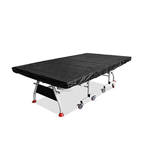 SUNERLORY Cubierta para ping pong, resistente al polvo, plegable, ligera, impermeable, para todo el año, fácil de limpiar, práctica, resistente al desgaste (negro)