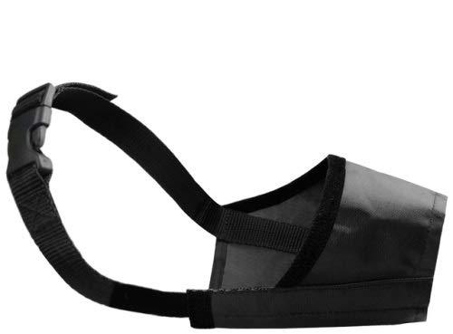 Maulkorb für Dobermann, Größe L, schwarz, atmungsaktiv, bissfest, Nylon, bequem, leicht, Schnellverschluss