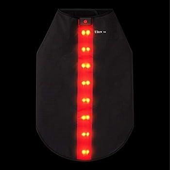 Petit Rouge Veste de Sécurité avec Bandes Réfléchissantes LED pour Chiens Safe Gilet de Sécurité LED Blouson Chien Gilet de Haute Visibilité Veste Impermeable Chien Gilet LED Clignotant