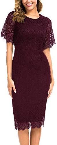 Sheath Dresses for Petite Women Vintage Eyelash Lace Teen Juniors Chic with Sleeves Cocktail product image