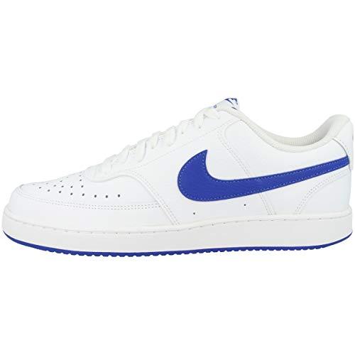 Nike Court Vision Low, Zapatillas de básquetbol Hombre, White/Game Royal, 43 EU