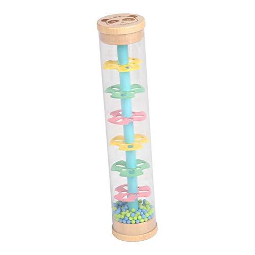 F Fityle Montessori Juguete de Sonido de Gota de Lluvia música Instrumento de percusión de plástico Iris Reloj de Arena máquina de Lluvia Palo de Lluvia