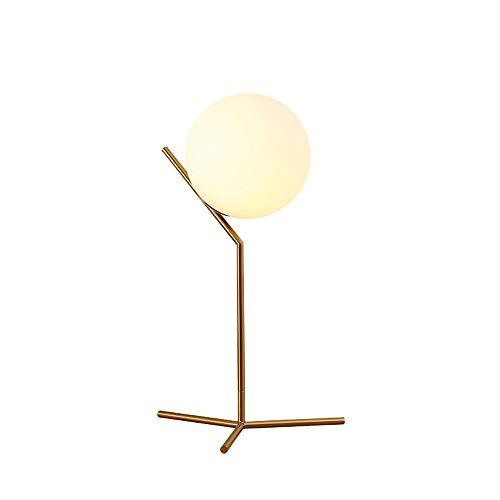 Lámpara Escritorio Lámpara estilo nórdico simple personalidad moderna creativa e27 universal tornillo de alta luz vidrio lampana lámpara de hierro lámpara estudio sala de estar hotel dormitorio hotel