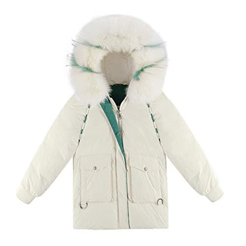 Geborduurde losse winterkleding, grote bontkraag donsjack, dikke en comfortabele warmte, als cadeau voor vrienden, breng meer warmte Retro Small Kleur