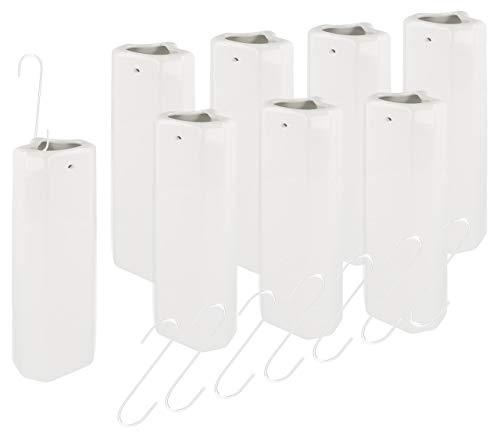 Lantelme 7687 - Humidificador de calefacción de cerámica para radiadores Acanalados (8 Unidades)