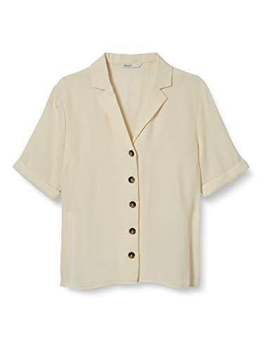 ONLY Damen Hemd Kurzärmeliges 42Eggnog