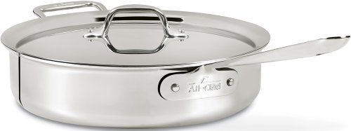 All-Clad Saute Pan, 4-Quart, Silver