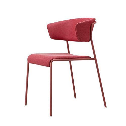 Zhenhe nórdico Silla de comedor mediados de siglo Sillas de comedor Sillas cojín del asiento de la silla de la habitación moderna y muebles de cocina (Color: Rojo, Tamaño: 51x56x77cm) Adecuado para sa