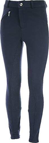 horze Active Kinder Reithose Vollbesatzhose Silikon Grip Mit Elastische Beinabschlüsse, Alle Größen