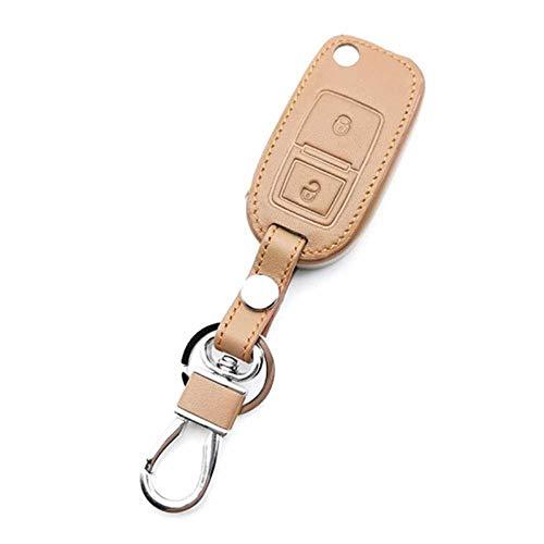 NIUASH Funda para Llave de Coche, Funda Protectora de Cuero con Mando a Distancia, Apto para Volkswagen Amarok Polo Golf Mk4 Mk5 Bora Seat Altea Alhambra