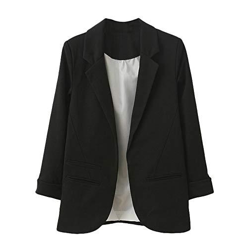 Abrigo de manga larga casual delgado para mujer Chaqueta de
