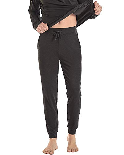 NACHILA Men's Jogger Pants Athletic Running Sport Sweatpants Comfy Bamboo Track Pants with Pockets Heather Grey L