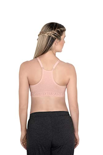 Kindred Bravely Sublime Support Low Impact Nursing & Maternity Sports Bra (Pink Heather, Large)